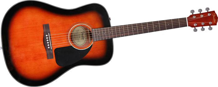 Fender CD60 acoustic guitar with hard case