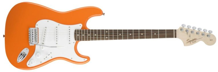 Squier Affinity Series 6 String Stratocaster Electric Guitar Competition Orange.jpg