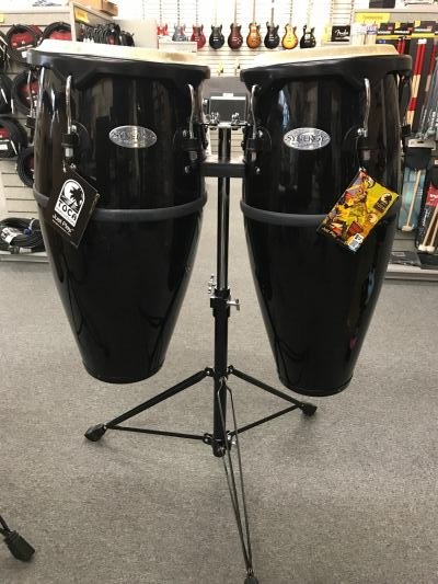 Toca Synergy Black Congas with stand.jpg